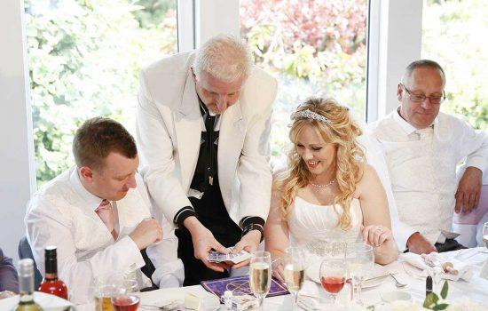 John Clayton performing at a Wedding