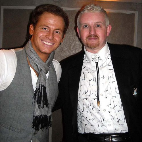 John Clayton with Joe Swash at an event